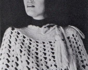 Crochet Poncho and Skirt Patterns 1960s Hippie Vintage Crocheting PDF PATTERN
