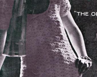 Mod Crochet Dress Pattern 1960s Hippie Vintage Crocheting PDF PATTERN