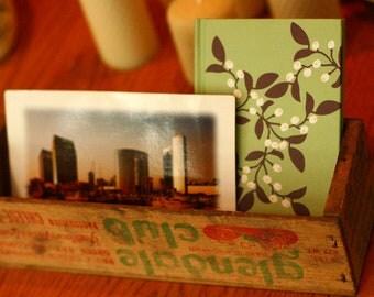 BLACK FRIDAY SALE - Small Wood Crate, Cheese Box, Office Organizer, Wedding Card Box, glendale club