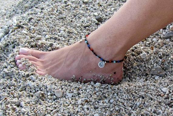 Foot Jewelry, Ankle bracelet, Beach anklet, Hippie Jewels, Summer