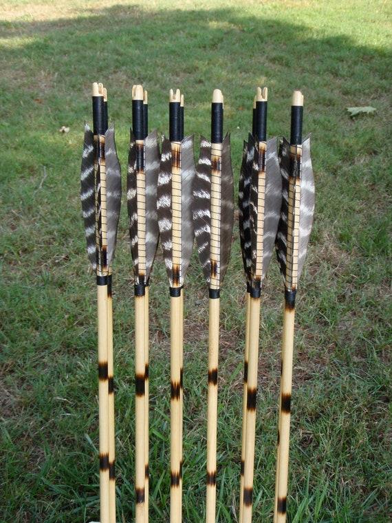 Primitive Woodland Arrows, 45-50lb, dozen wood archery arrows, traditional wood archery arrows