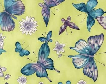 Garden Butterflies in Citrine - Pen and Ink Collection -  Robert Kaufman