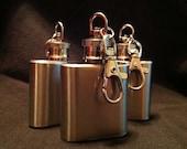 1oz Flask Keychain - Mini Flask - Stainless Steel