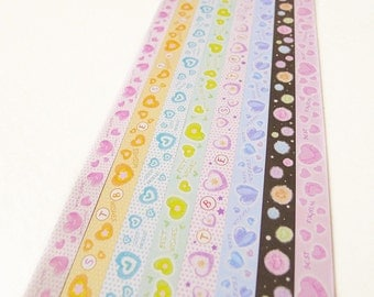 Sweet Hearts Origami Lucky Star Folding Paper - Pack of 160 Strips