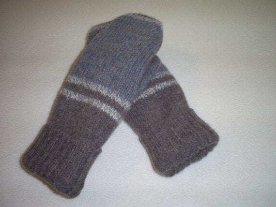 Felted Wool Mittens Recycled from Felted Wool Sweaters, Fleece Lined -Women's  Mittens