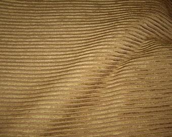 "Colefax & Fowler Cinnamon ""LOMOND"" Ribbed Chenille Fabric - F2817-09 - Below Wholesale - 4.2 yds"