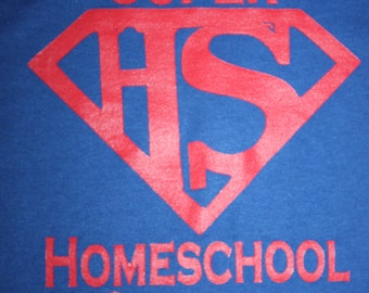 Custom Super Homeschool Student t shirt