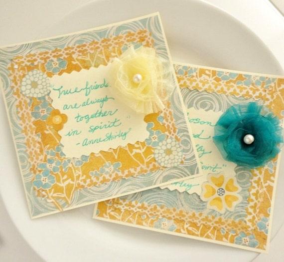 Anne of Green Gables Cards Anne Shirley Quotes, Bosom Friend, Kindred Spirit, Handmade Gift Set