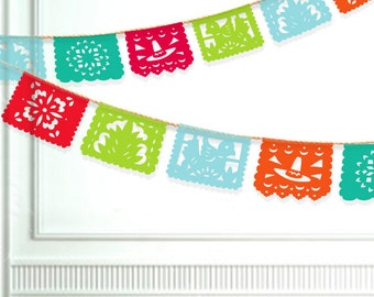 Fiesta Banner Printable - Papel Picado