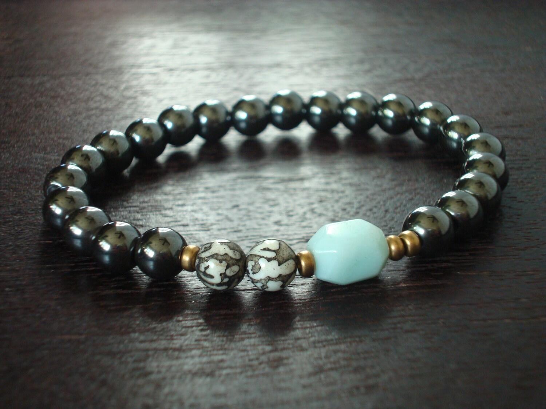 s hematite lotus mantra mala bracelet s