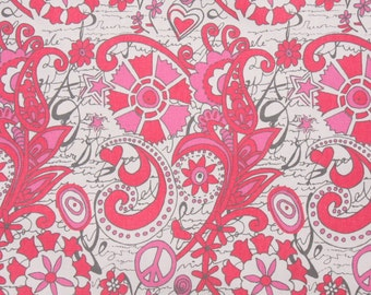 """Premier Prints Hippie Chick Flamingo (Gray/Pink Paisley Scroll) - Home Dec Fabric - 1/2 yard, Additional Available - 54"""" wide"""