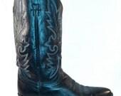 Dan Post Black Leather Cowboy Boots - Mens US Size 11