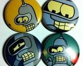 Futurama Bender Button 4-pack