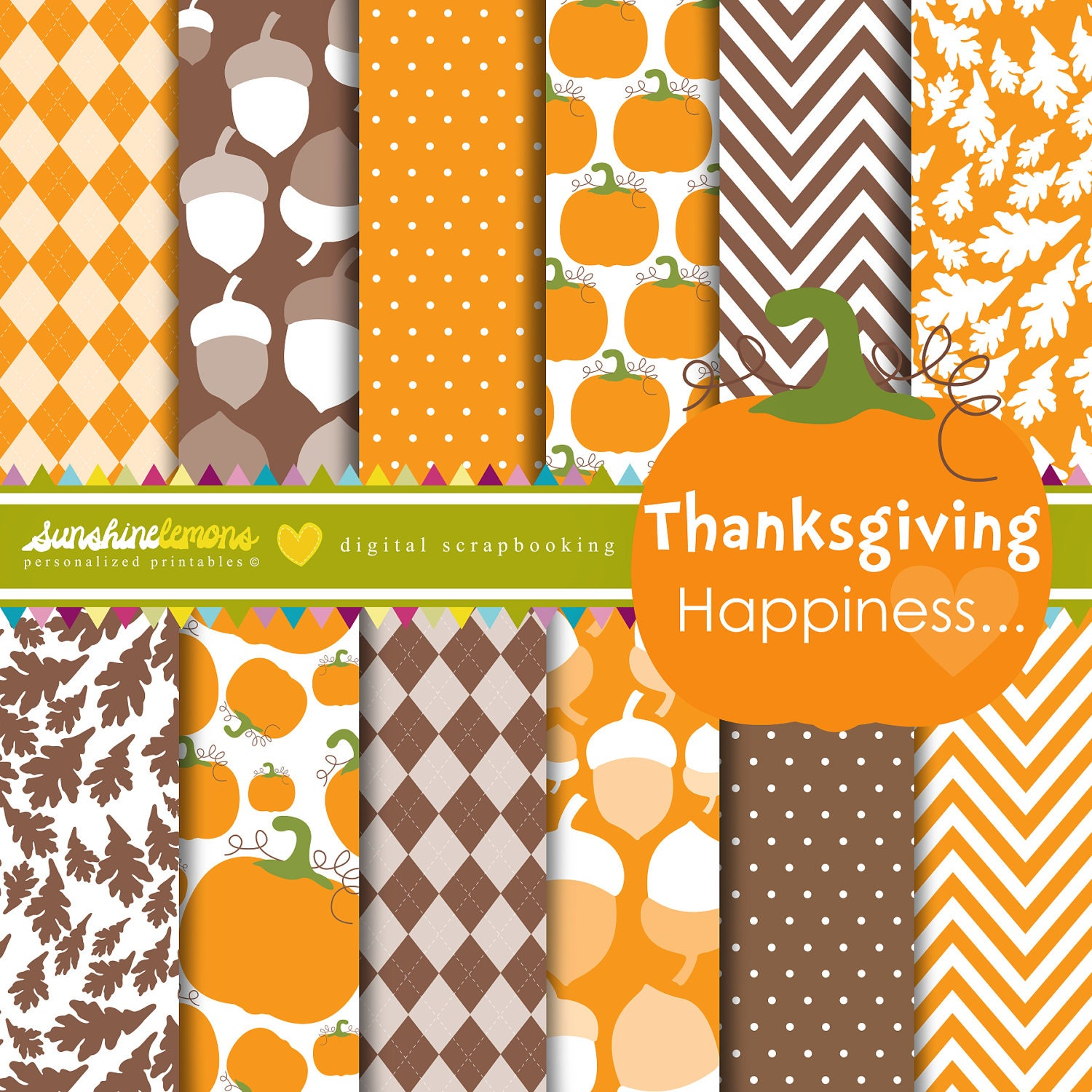 thanksgiving happiness digital scrapbooking by sunshinelemons
