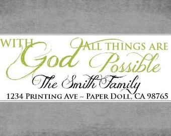 Return Address Labels - With God all things are possible