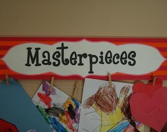 Masterpieces Wall Sign - Children's Art Display - Art Gallery