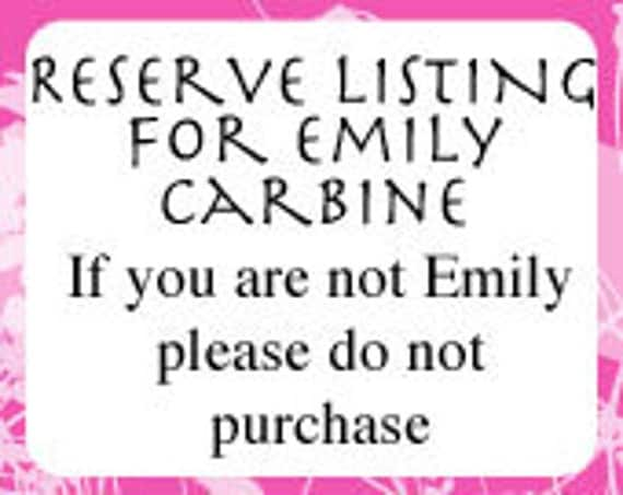 Custom Order Flag for Emily Carbine - Do not Purchase if you are not Emily