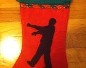 Zombie Walker Christmas stocking