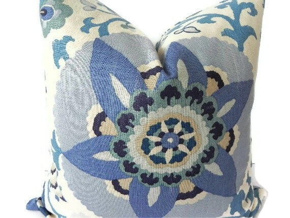 Floral decorative pillow cover 20x20 home decor by pillowchix for 20x20 living room