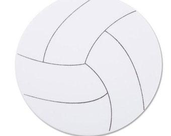 Large Foam Volleyball Shape (10pc)