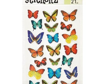 Butterfly Stickers (2 Sheets, 42 Stickers)