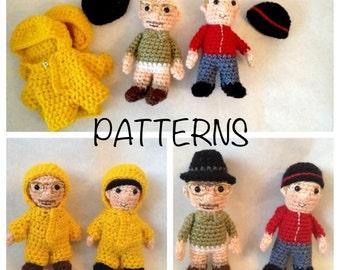 Breaking Bad inspired Amigurumi doll Crochet PATTERNS Walt & Jesse