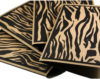 Zebra print cards, thank you notes, thank you card set
