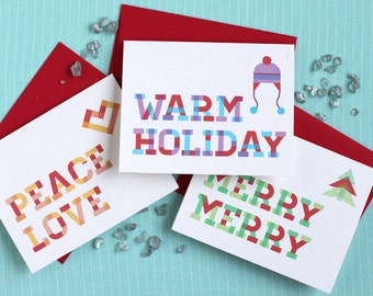 Plaid Holiday Cards : Multipack of 12