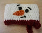 Frosty the Snowman Crochet Coffee Cozy Java Jacket