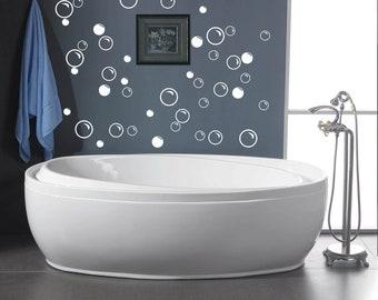 50 large soap bubbles wall decals bathroom decals vinyl decal wall art