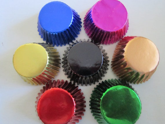 MINI Foil Baking Cupcake Liner Papers Cup