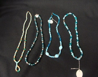 SET of 4 BEADED NECKLACES
