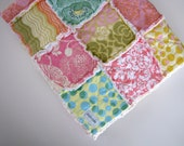 "Summertime Lovin Rag Quilt made with Amy Butler Fabrics 30"" X 30"""