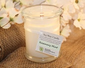 Rosemary Mint 100% NATURAL Soy Candle - 12 oz jar