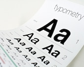 Typometry - Screen Printed Eye Chart for Typography Lovers