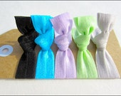 Elastic Hair Ties - Set of 5 -  High Voltage Collection - Mane Accessory