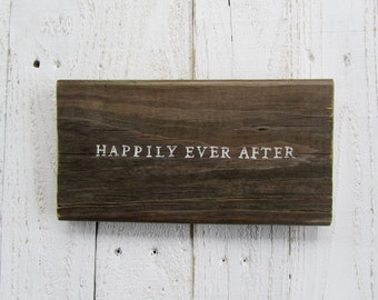 Happily ever after wood board