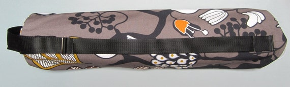 SALE: Yoga Mat Bag - Nature, Flowers, Trees with Adjustable Strap - Yoga Bag