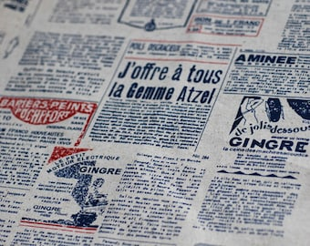 Cotton Linen fabric,Vintage News paper ,Europe Style diy,sewing 1/2 yard (C247)