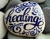 Healing / Painted Stone / Sandi Pike Foundas