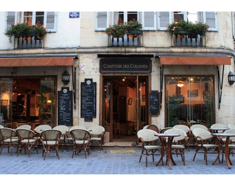 Cafe, Dijon France Photo Print