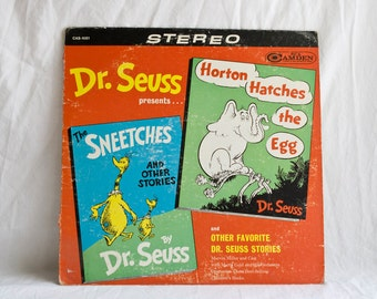 Vintage Dr Seuss Record, Vinyl  Album Horton Hatches the Egg & The Sneetches with Other Stories LP 1960s,  Children's Classics