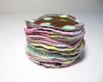 Reusable Facial Rounds, 20 Cosmetic Rounds, Makeup Remover Pads, Eco-Friendly Face Scrubbies, Add on WASH BAG