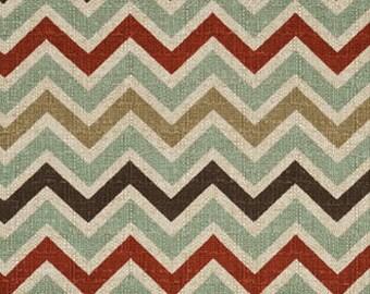 Single Pillow Cover 12x16 or 18 inch-Free Shipping - Zoom Zoom Chevron Zig Zag Nile Denton Home Decor Fabric