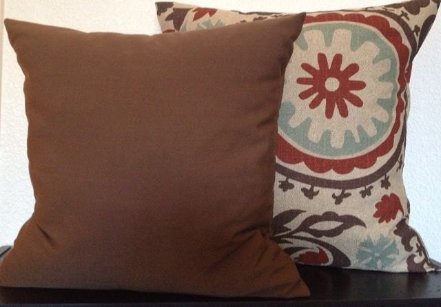 Pillow Cover Solid Brown Home Decor Fabric-Free US