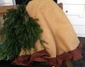 """Red Plaid Ruffled 70"""" Tree Skirt"""