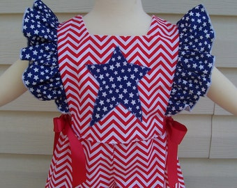 Baby Girl's Vintage Style Patriotic 4th of July Shorts and Top Outfit Size 12 Months READY TO SHIP