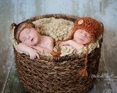 Twin Photography Prop Set, Newborn Twin Set, Boy/ Girl Twin Photography Prop