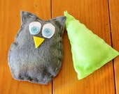 Kids My First Sewing Starter Craft Kit  - Makes 2 Shapes / Pillows, Owl & Tree