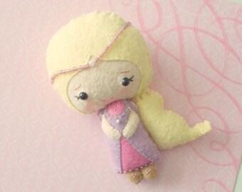Rapunzel Doll - Felt Doll - Fairy Tales - Princess Doll